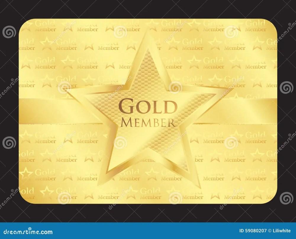 medium resolution of gold member club card with big star