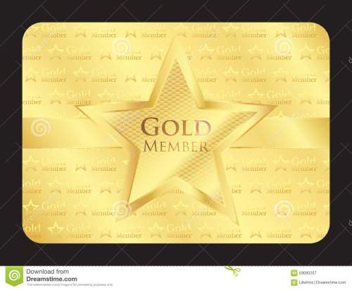 small resolution of gold member club card with big star