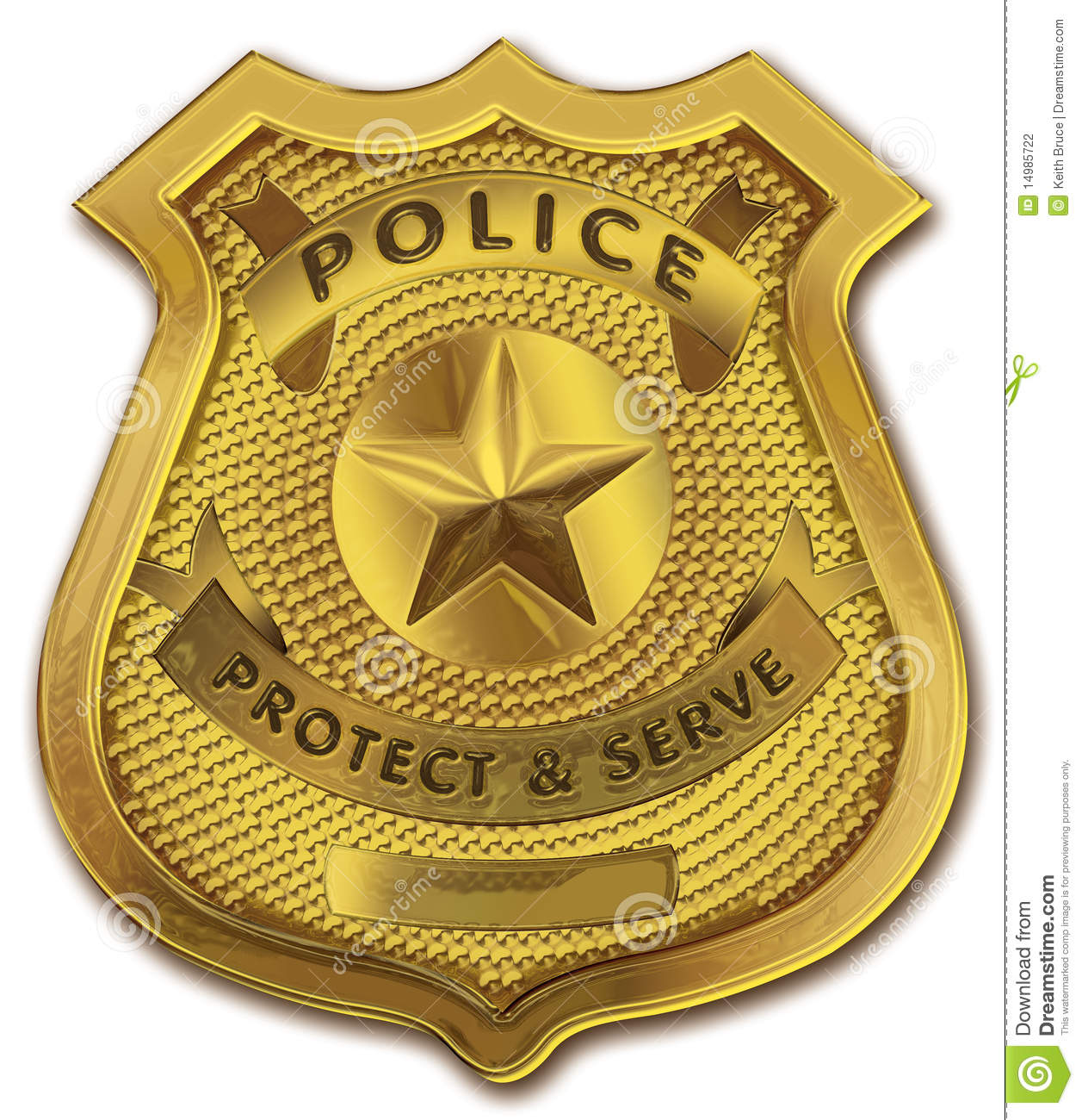 Gold Police Officer Badge Stock Photography