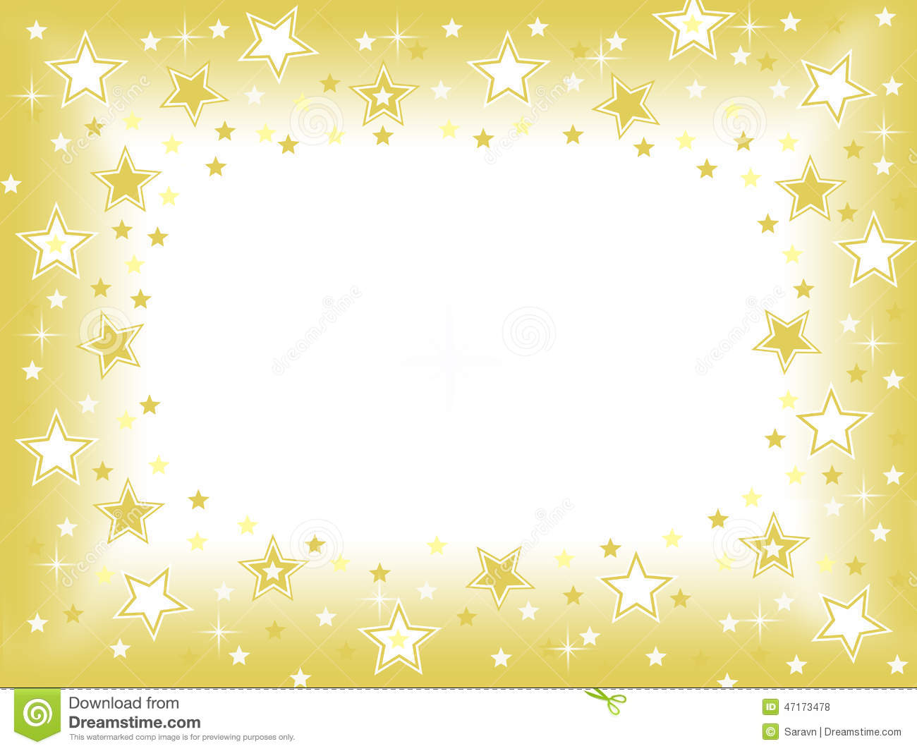 Falling Glitter Confetti Wallpapers Gold Star With Blank Space Celebration Background Stock