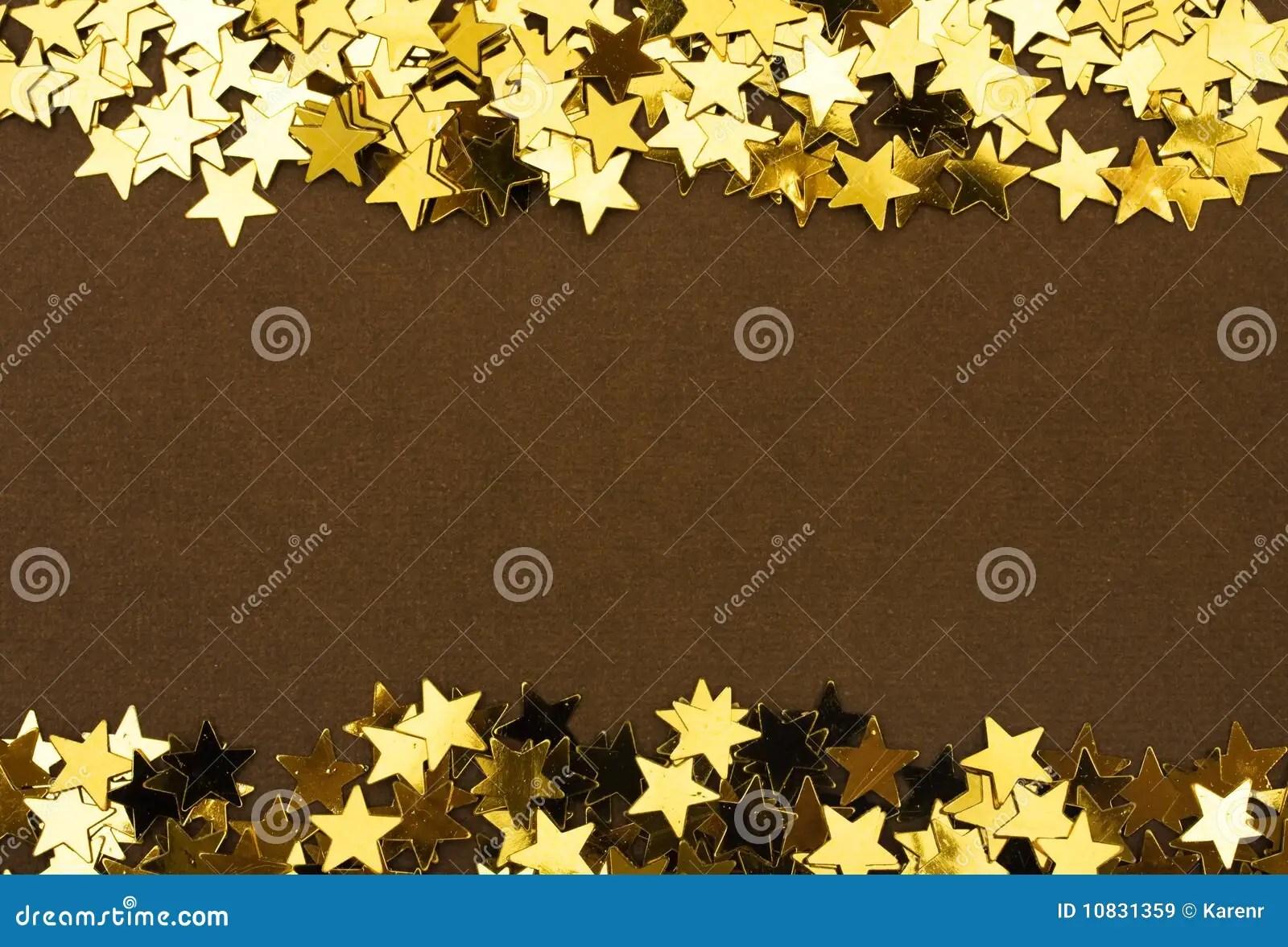 Gold Star Border Stock Image Image Of Gold Frame Star