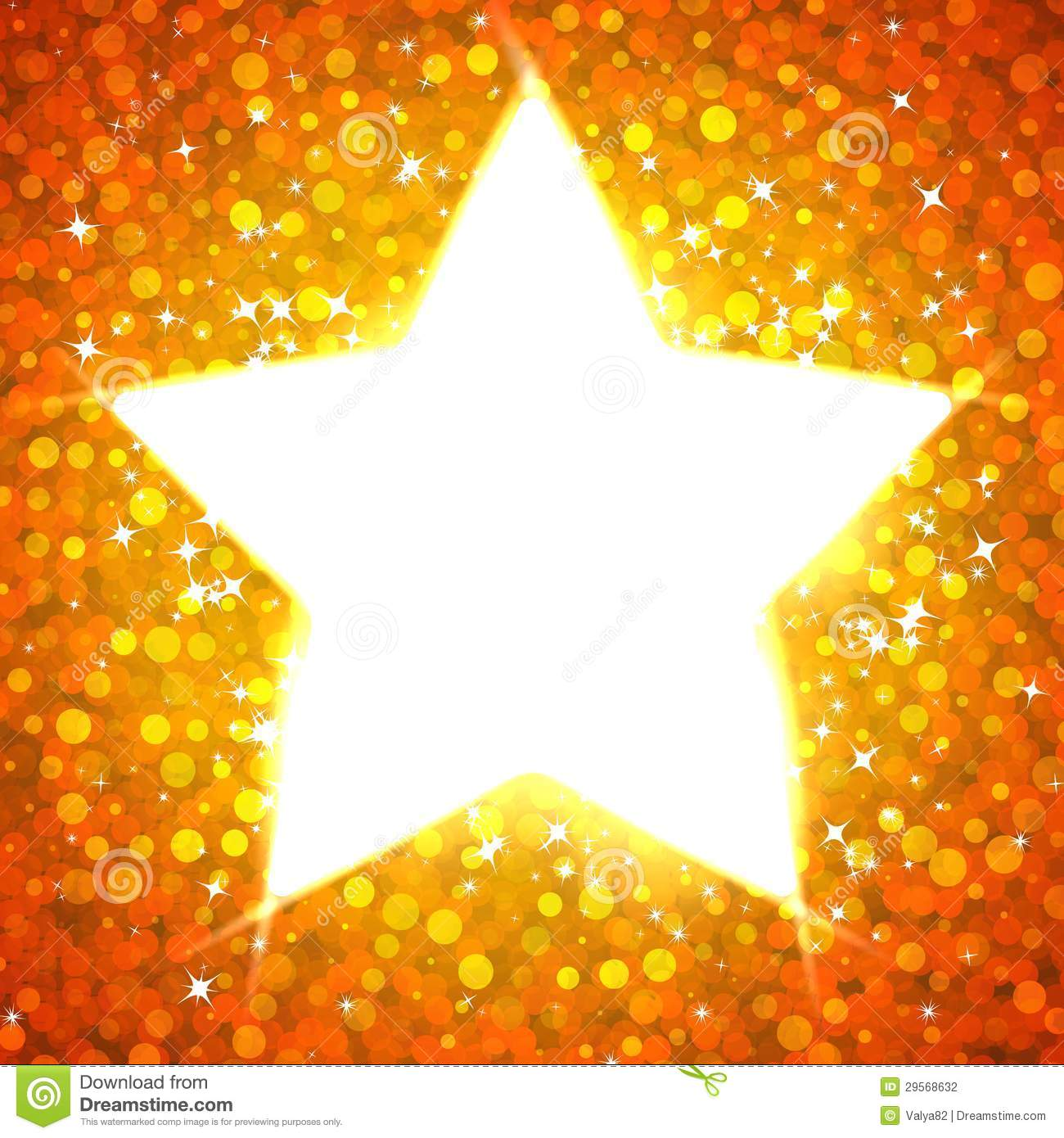 Gold Star Card Template Stock Photography Image 29568632