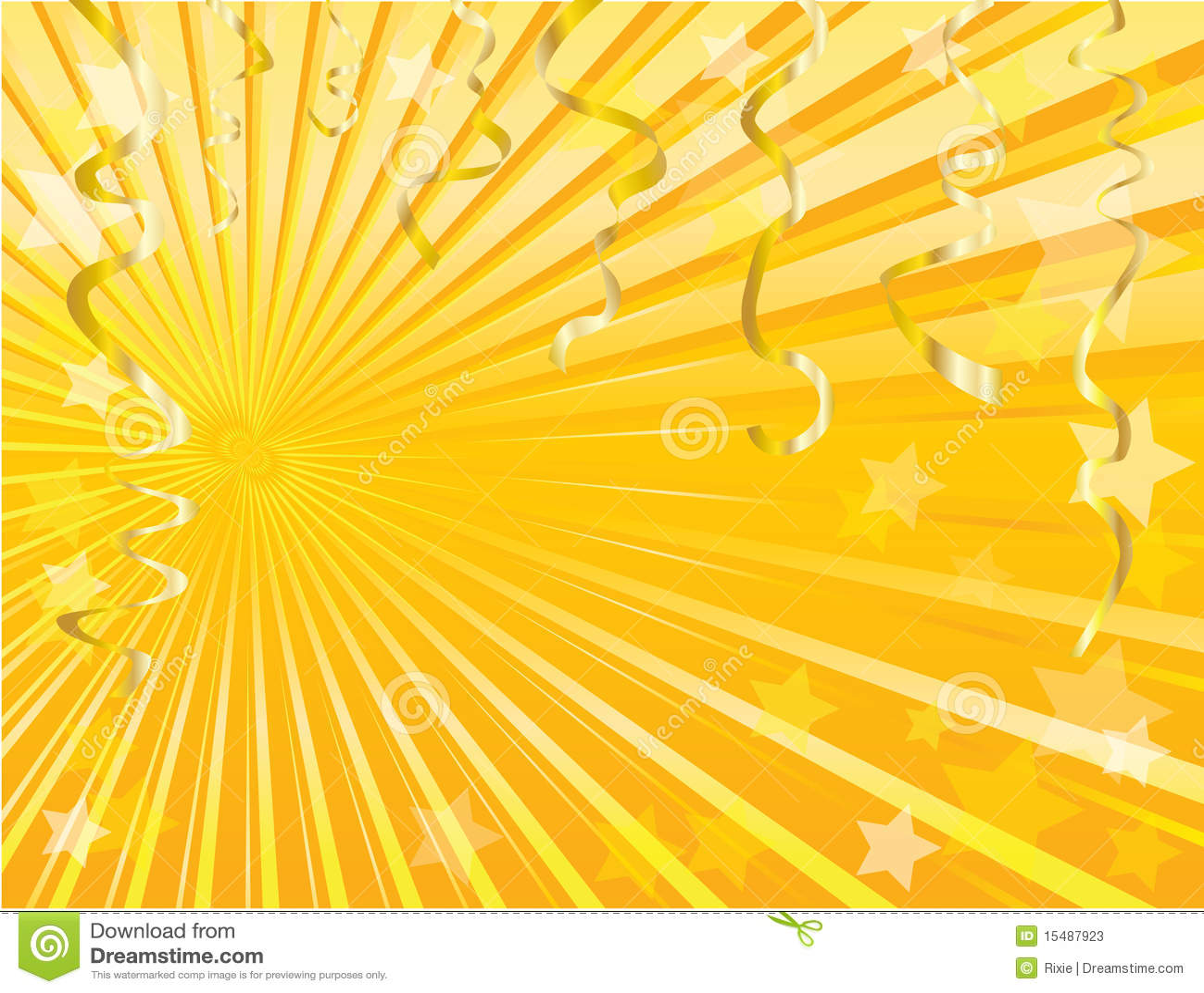 Gold Streamer Background Stock Vector Image Of Celebrate