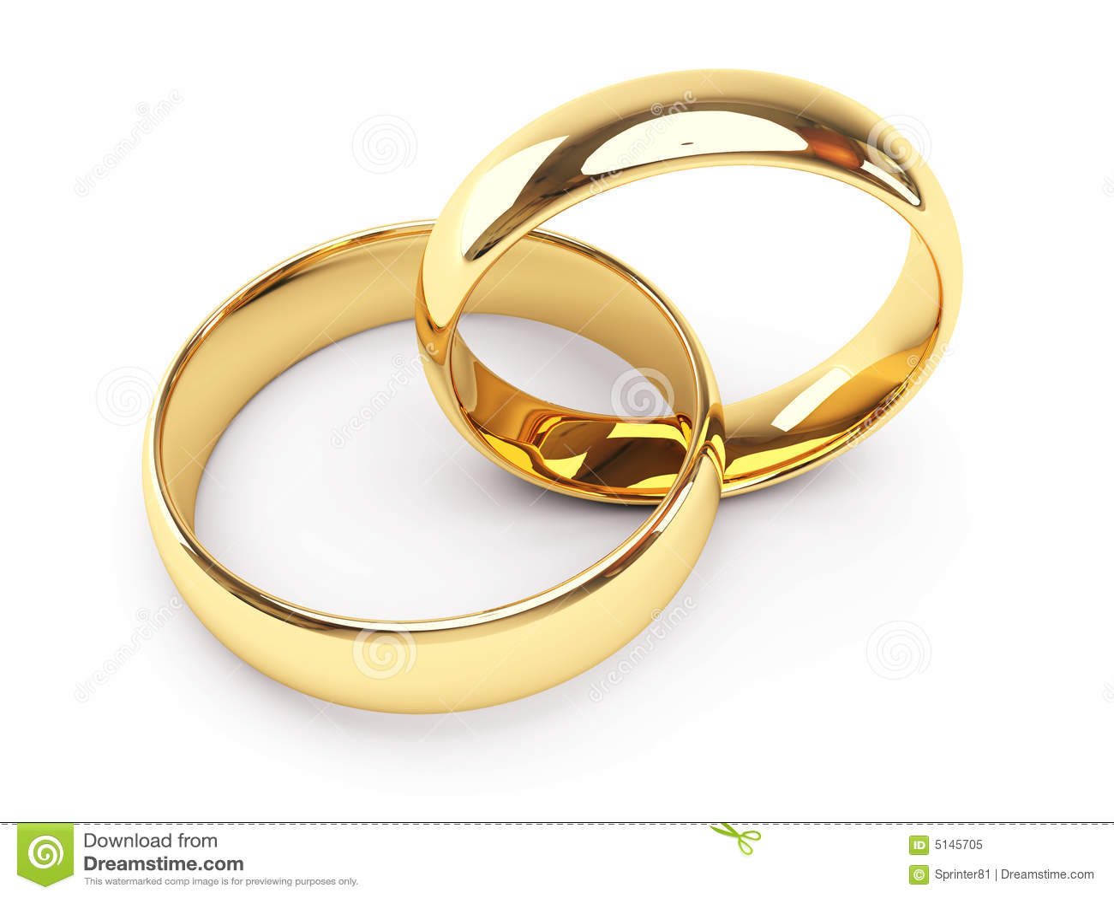 Gold Wedding Rings Royalty Free Stock Photo  Image 5145705