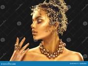 gold woman skin. beauty fashion
