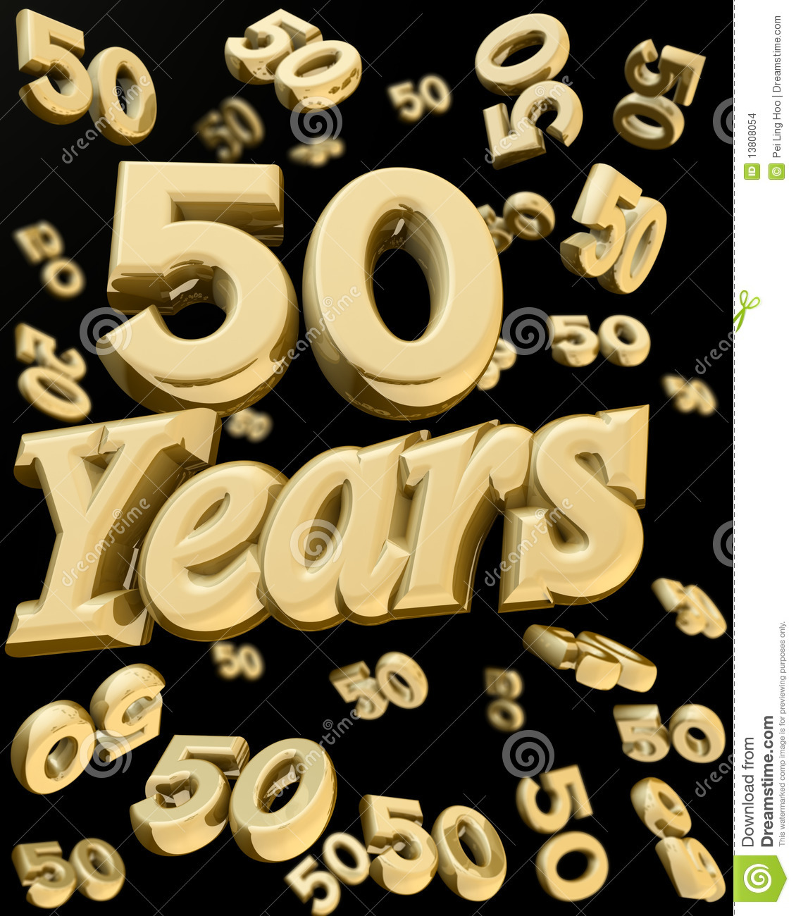 Falling Glitter Wallpaper Golden 50 Years Anniversary Stock Images Image 13808054
