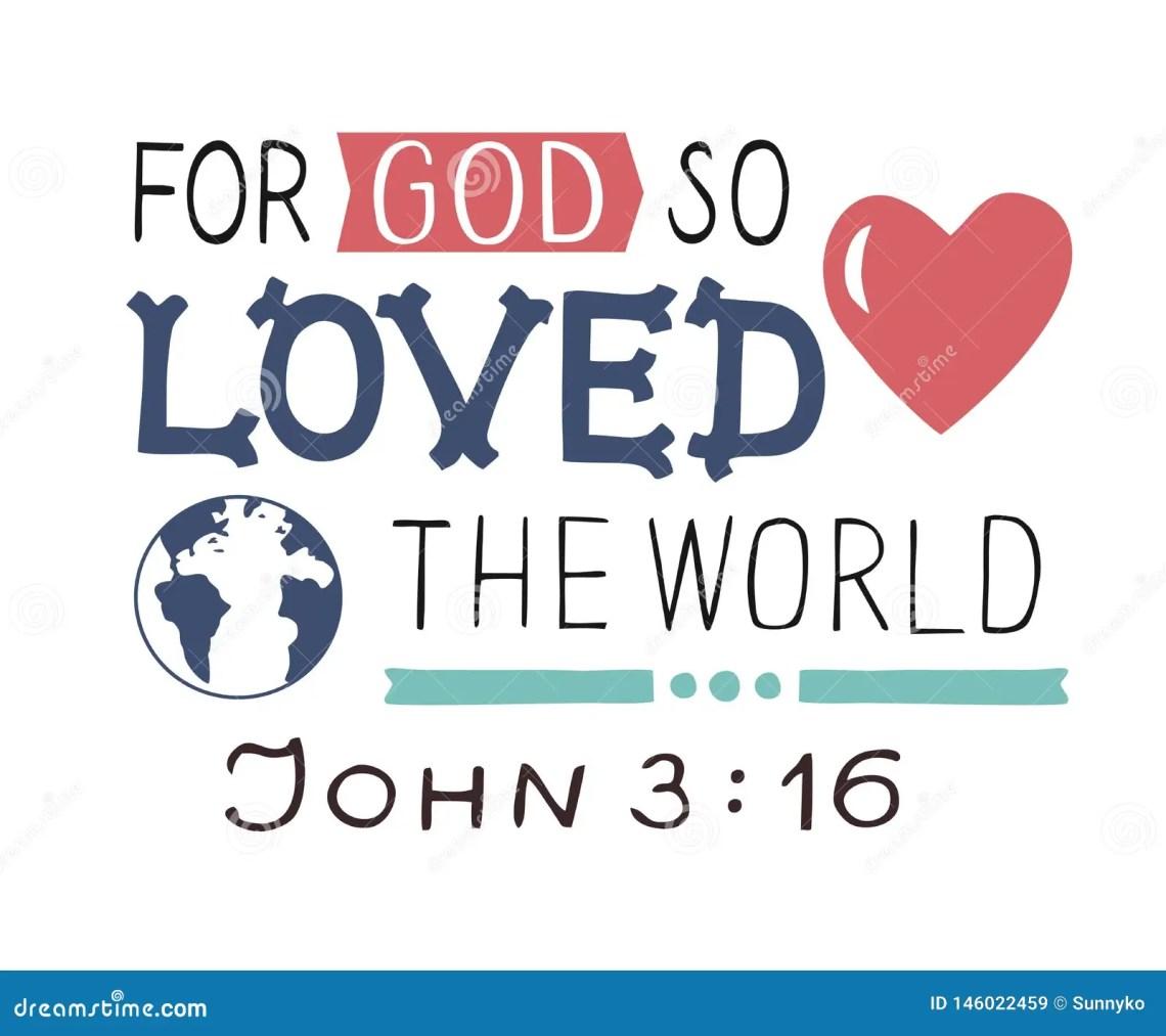 Download Golden Bible Verse John 3 16 For God So Loved The World ...