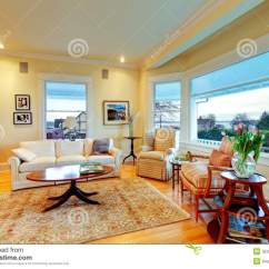 Yellow Living Room Rugs Furniture Small Spaces Golden Bright Luxury With Fireplace And Rug