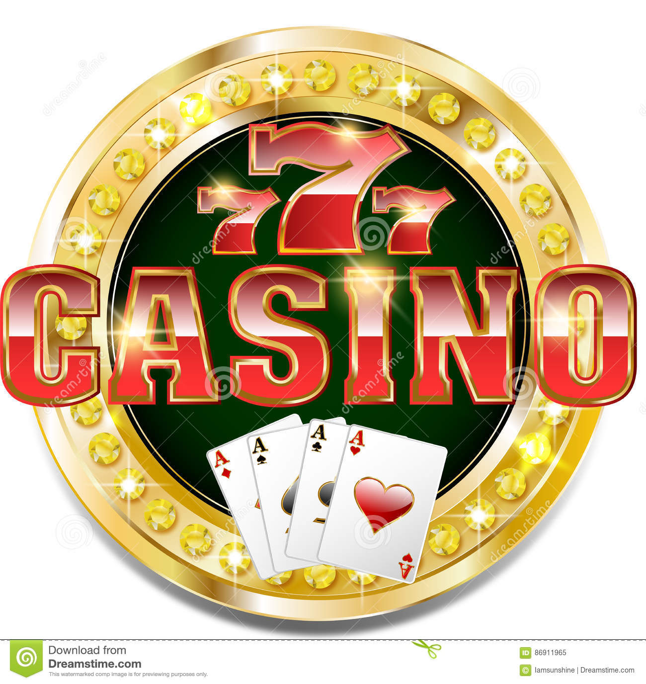 golden casino banner with