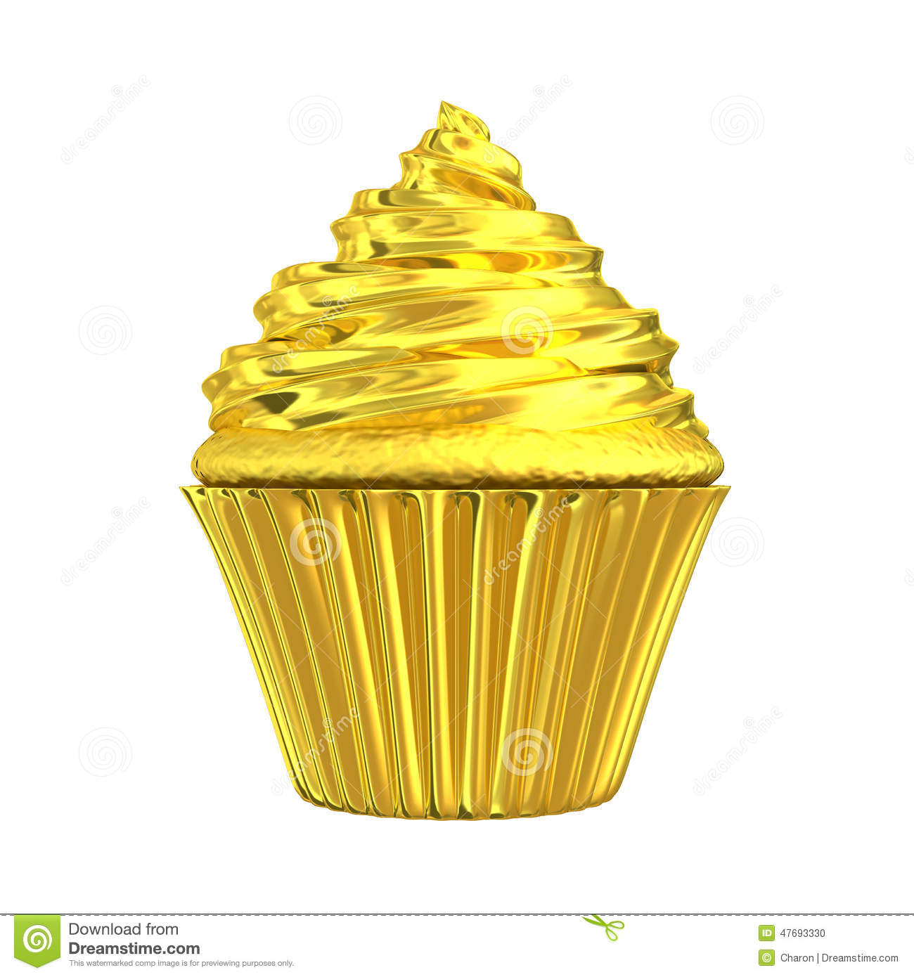 Vector Cupcakes Illustration Auto Electrical Wiring Diagram Diy Diagrams 3wayswitchwith6lights Cupcake Golden Shiny Gold Cake Stock