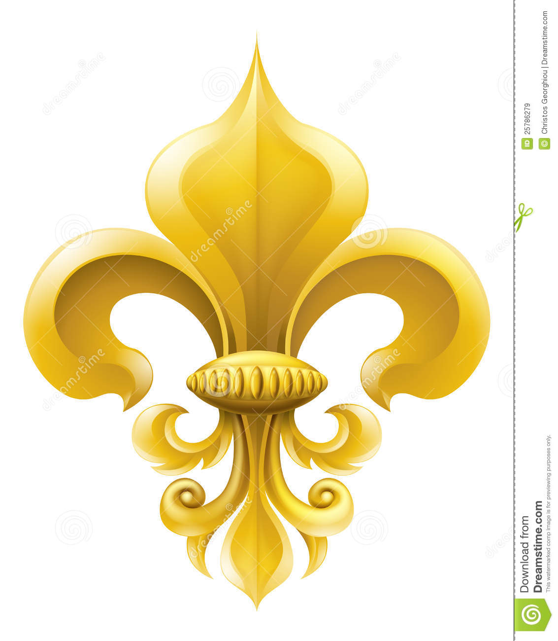 hight resolution of golden fleur de lis decorative design or heraldic symbol