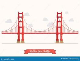 Golden Gate Bridge Illustration Stock Vector ...