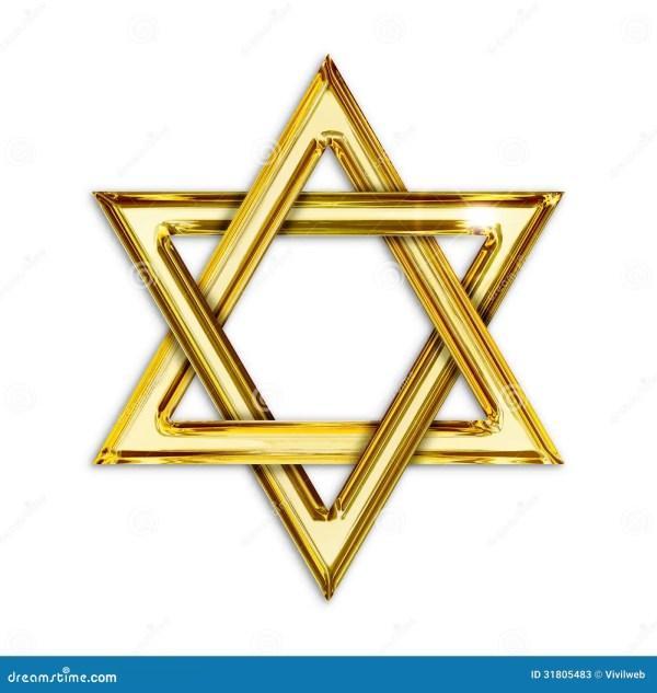 golden hexagram stock illustration
