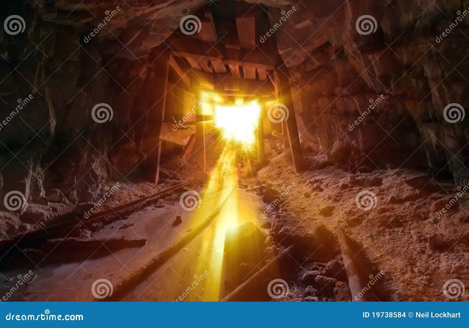 Golden Mine Light Stock Photo Image Of Steam Debris