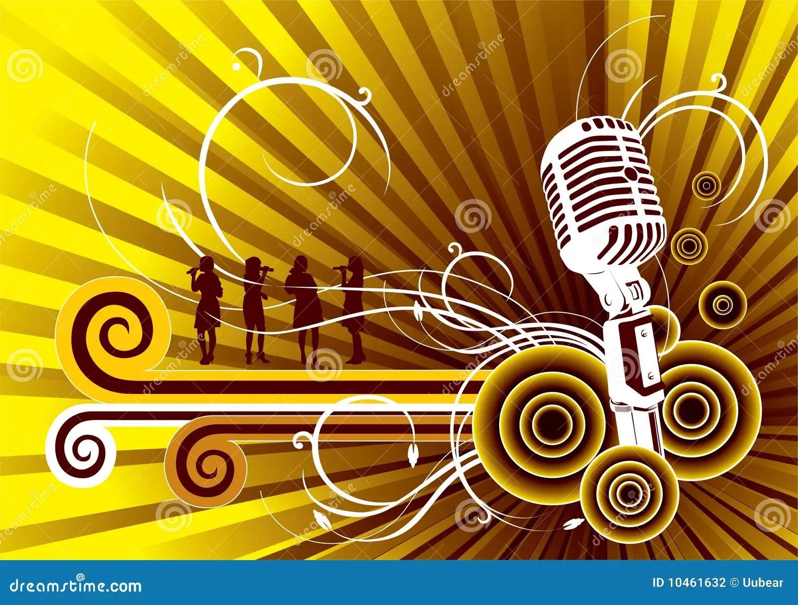 Grunge Girl Wallpaper Golden Music Background Stock Photography Image 10461632