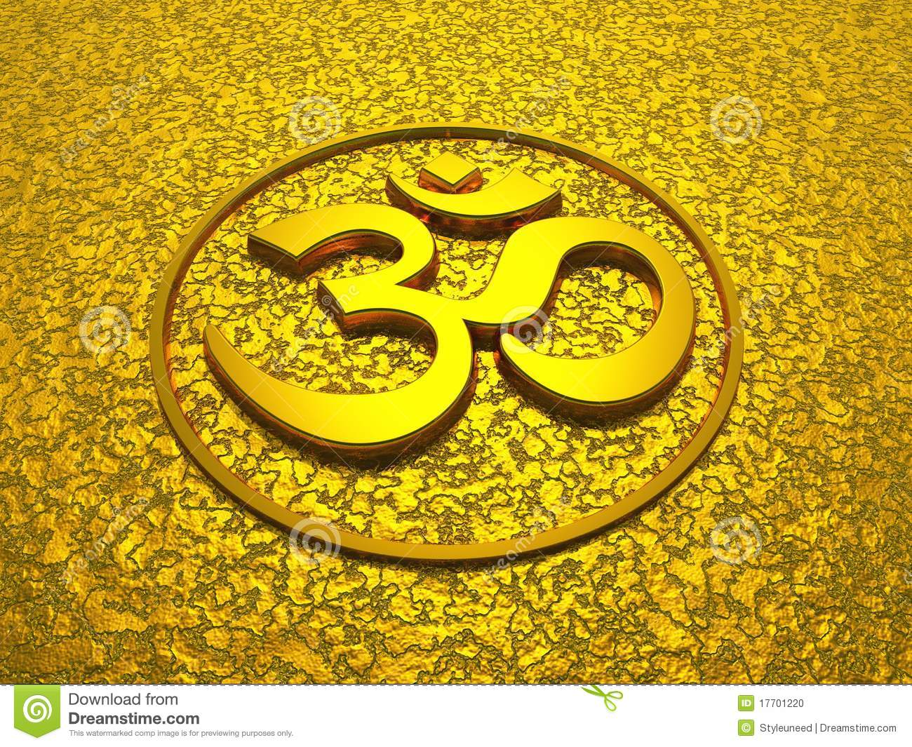 Fall Wallpaper Water Golden Om Sign On Gold Background Stock Photo Image