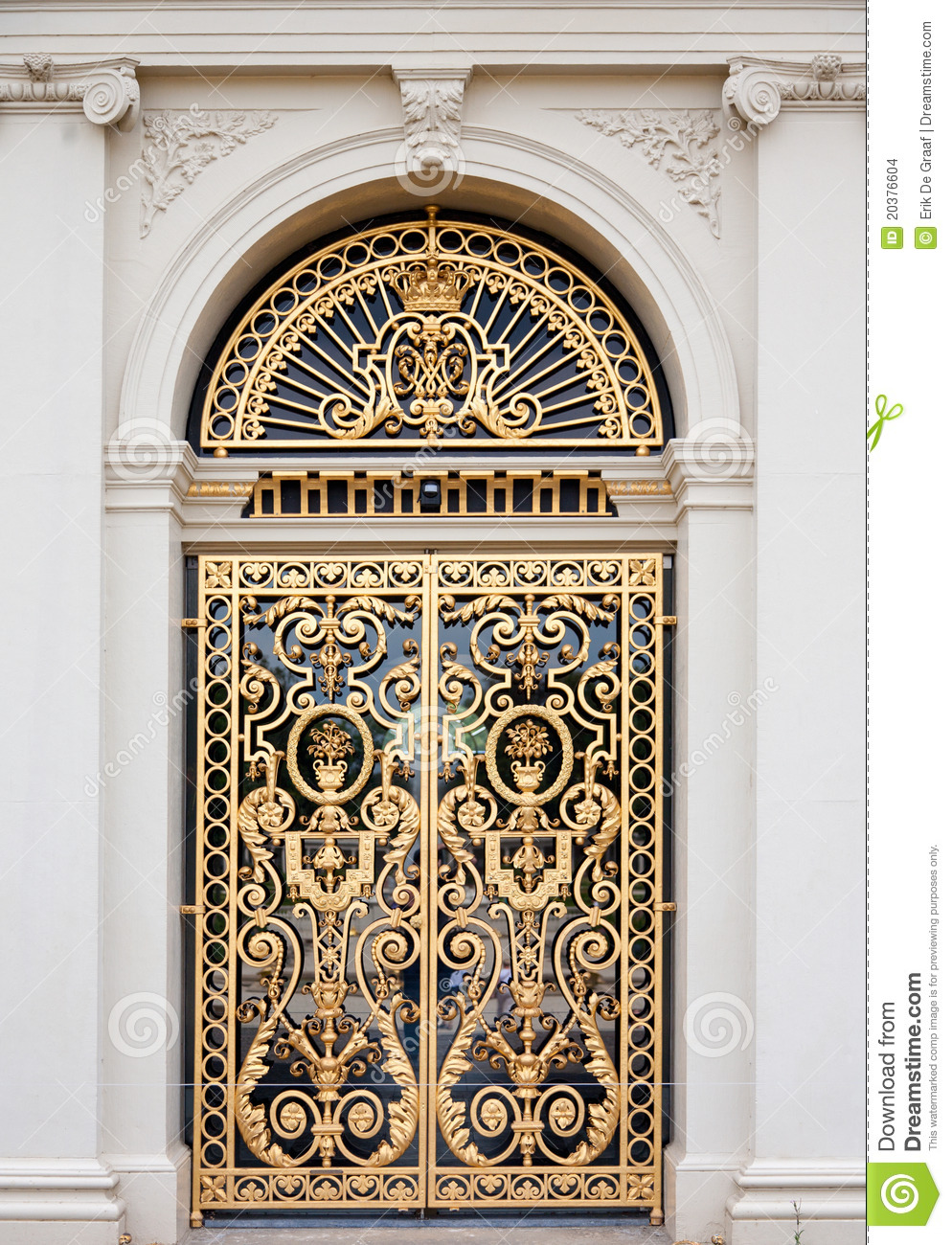 Golden ornate door stock photo Image of house mansion
