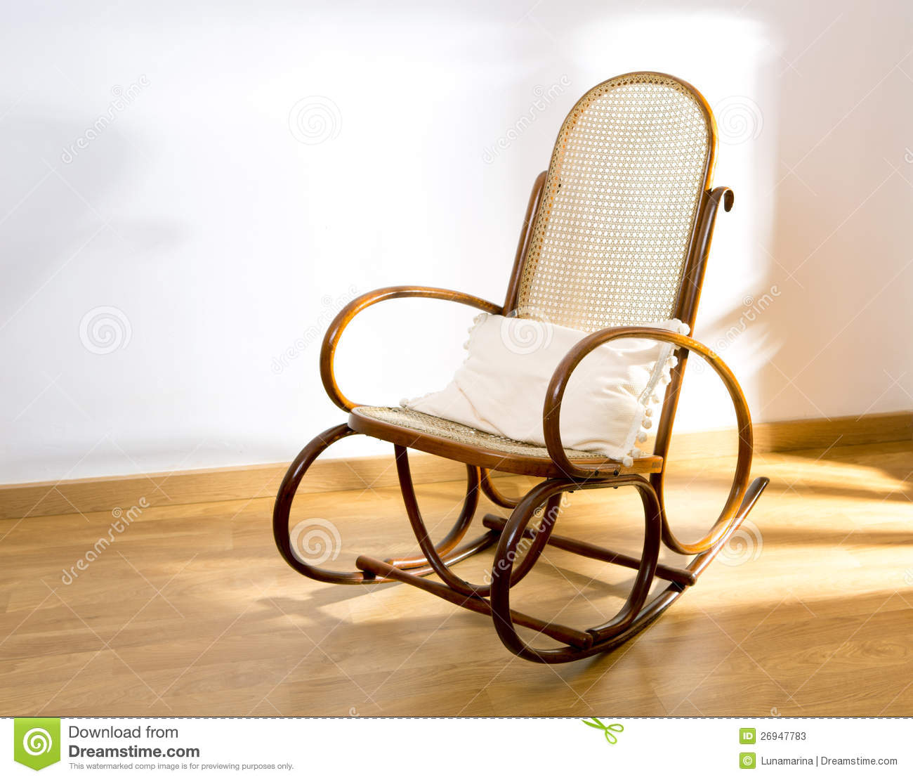 Golden Retro Rocker Wooden Swing Chair Stock Image  Image