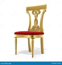 Golden royal chair stock illustration. Illustration of ...
