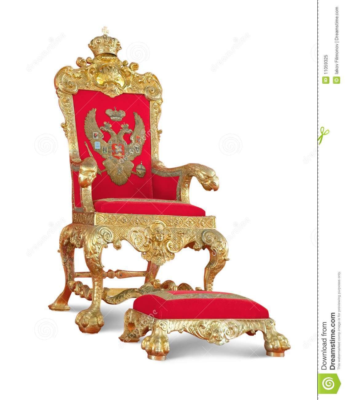 Golden Royaltys Throne Isolated With Path Royalty Free