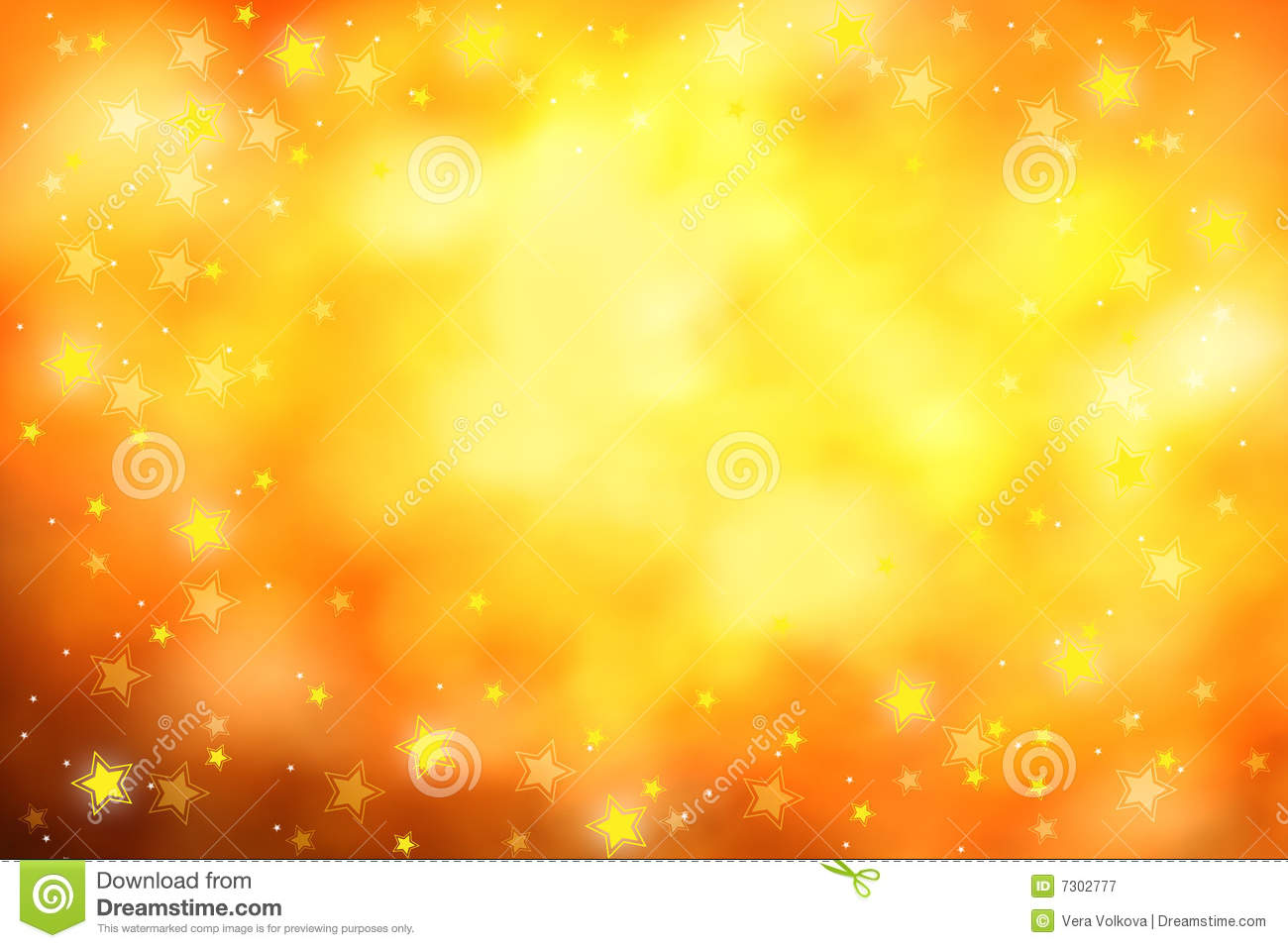 Golden Stars Background Royalty Free Stock Photography