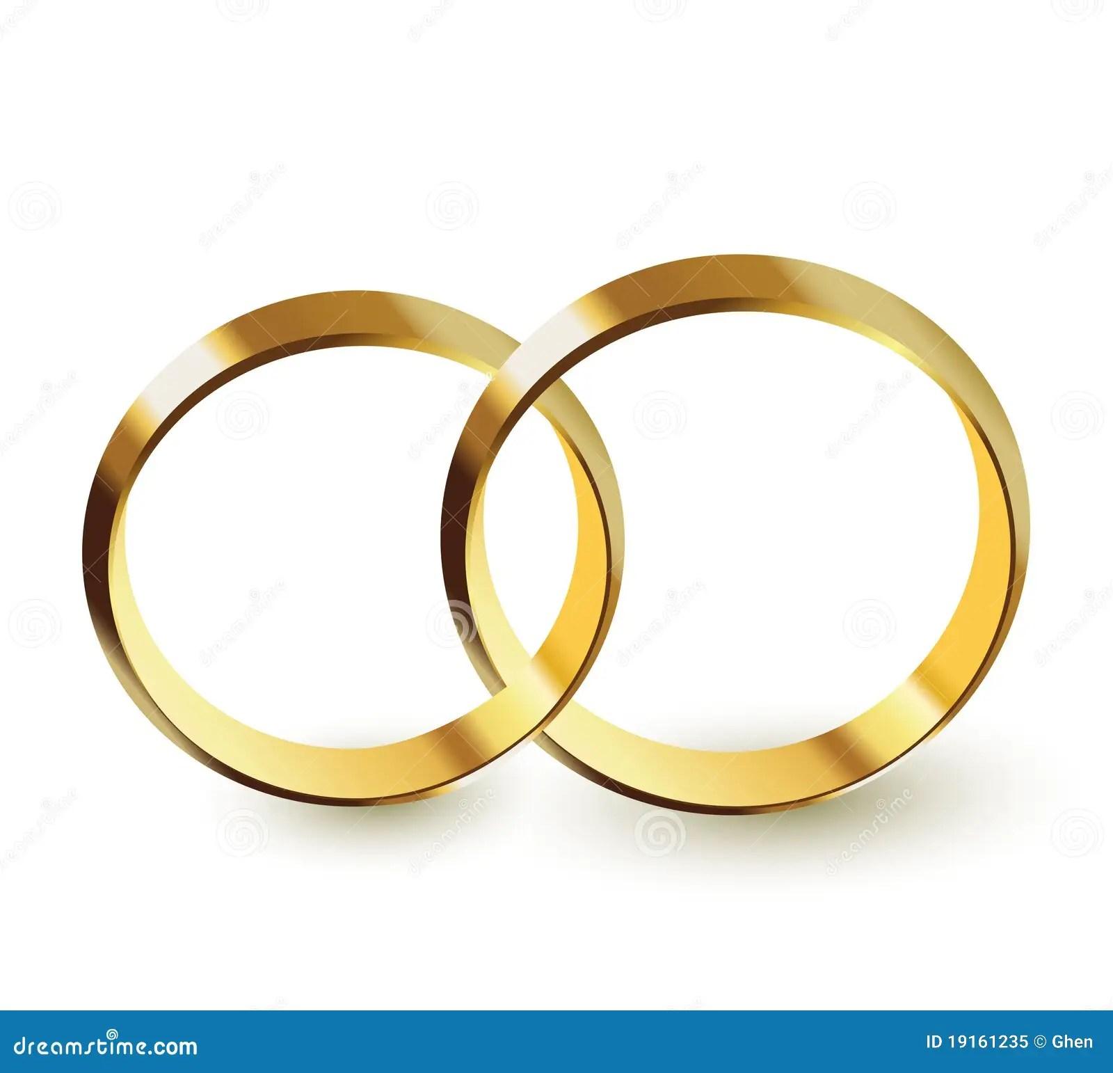 Goldene Ringe vektor abbildung Illustration von zwei