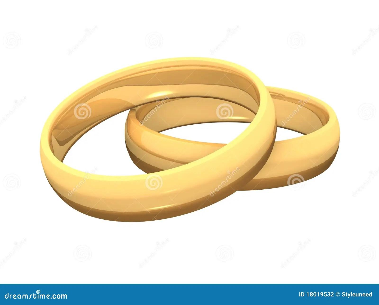 Goldene Ringe 3D Fr Hochzeit 05 Stockfotografie Bild