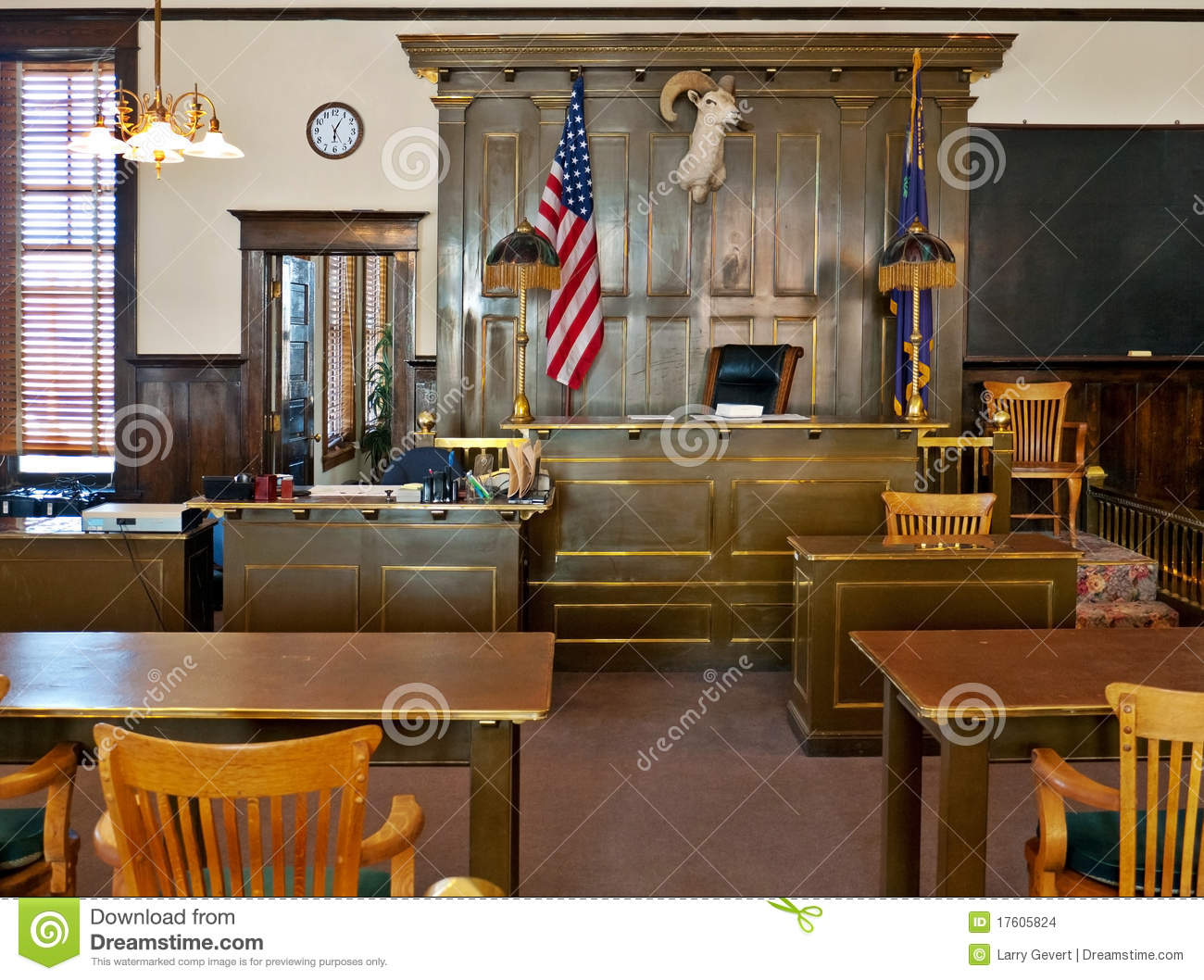 Goldfield Nevada Esmeralda County Courthouse Stock Photo