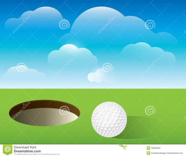 Golf Background Putting Green Stock Vector - Illustration Of Golfing 32608529