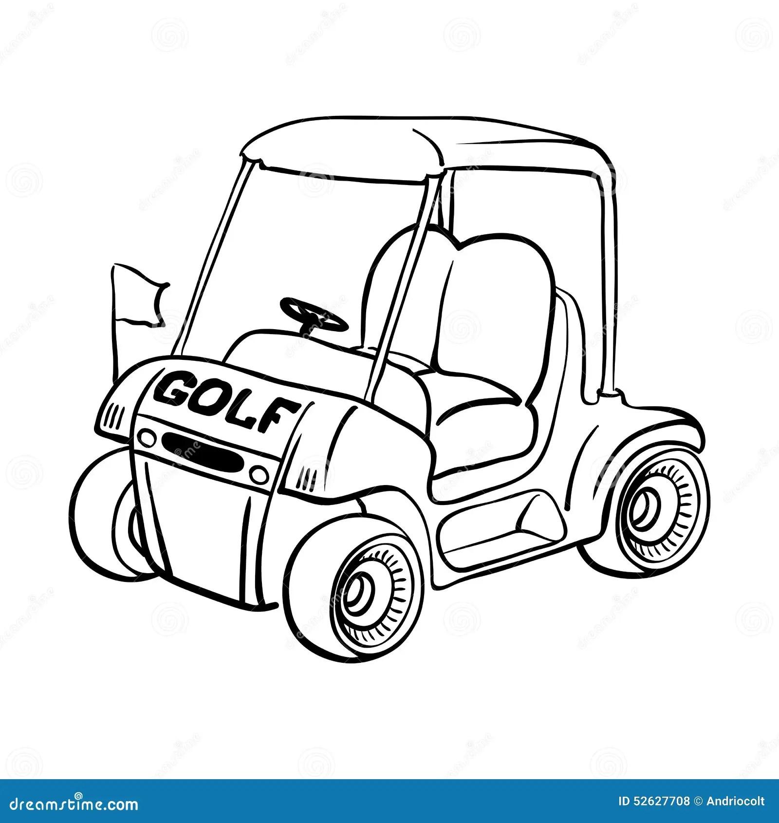 Golf Cart Stock Vector Illustration Of Golfing Motorized