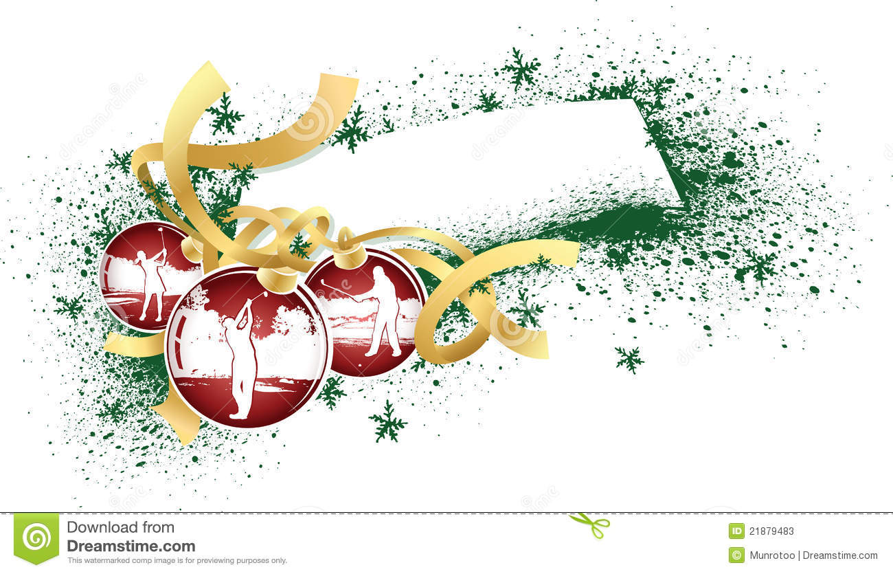 Golf Christmas Ornaments Stock Photos Image 21879483