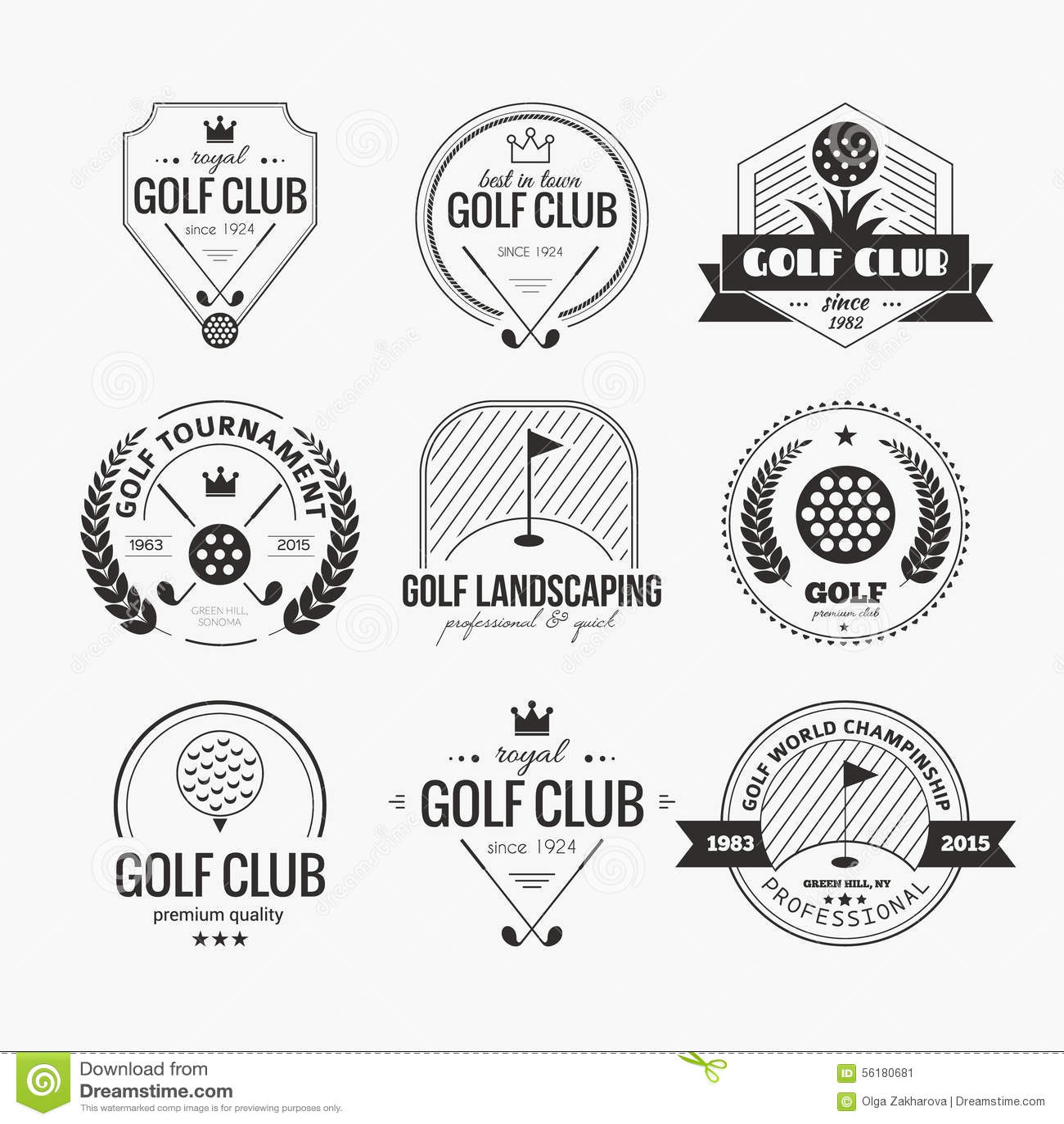 Golf Club Logo stock vector. Illustration of design, retro