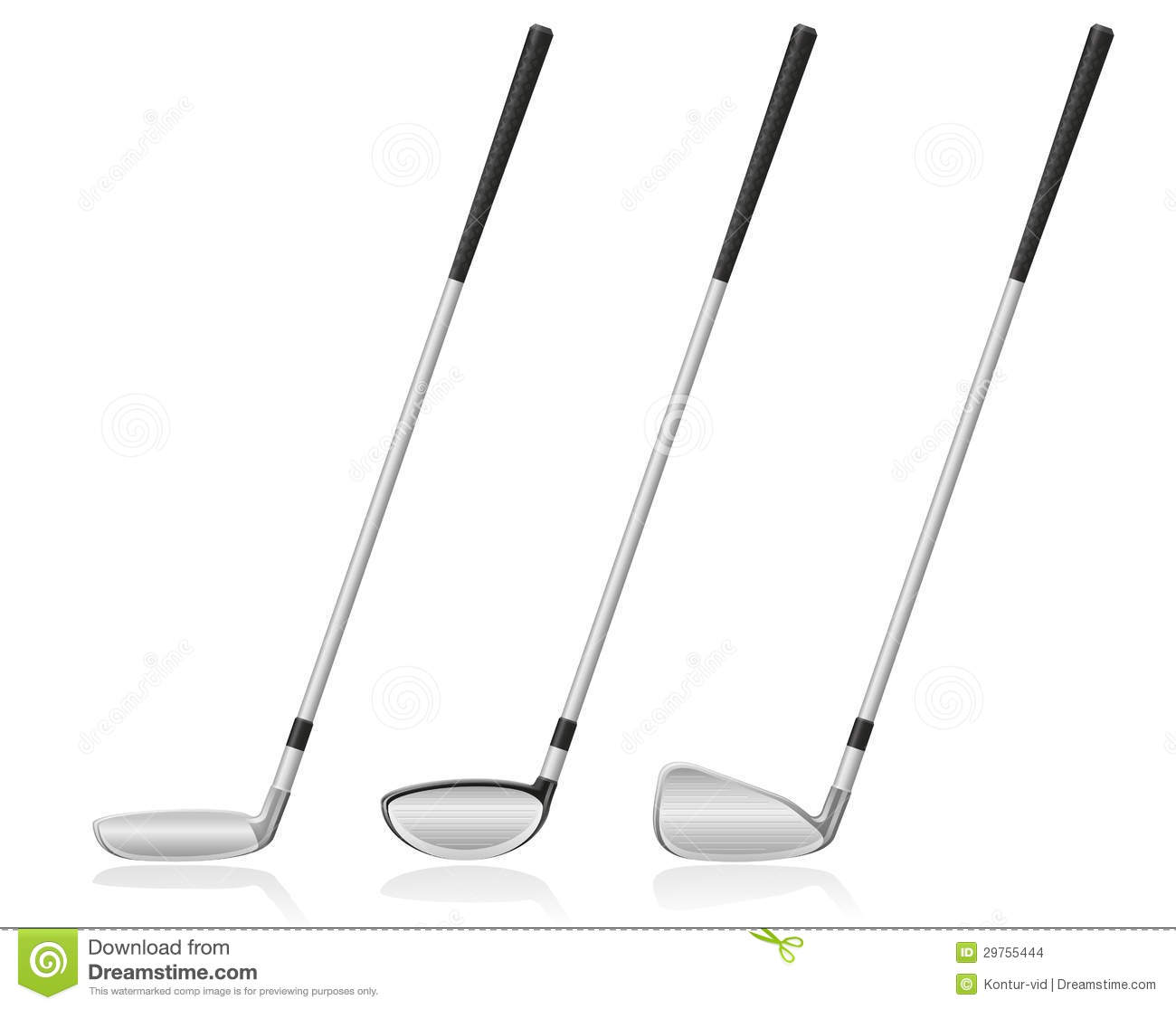 Golf Club Vector Illustration Stock Images