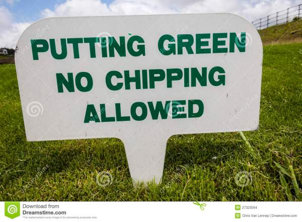 Golf Course Signs Stock Images - Image: 27323594