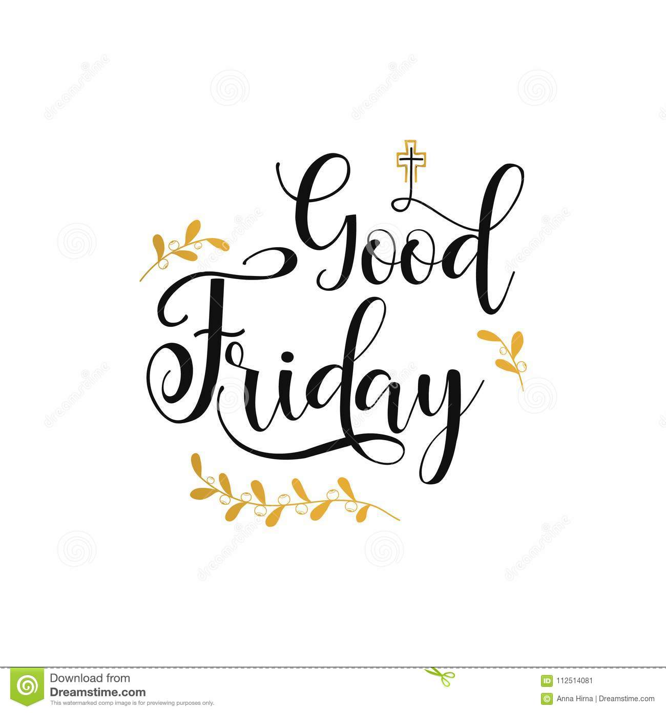 Good Friday Lettering Hand Drawn Lettering Poster For