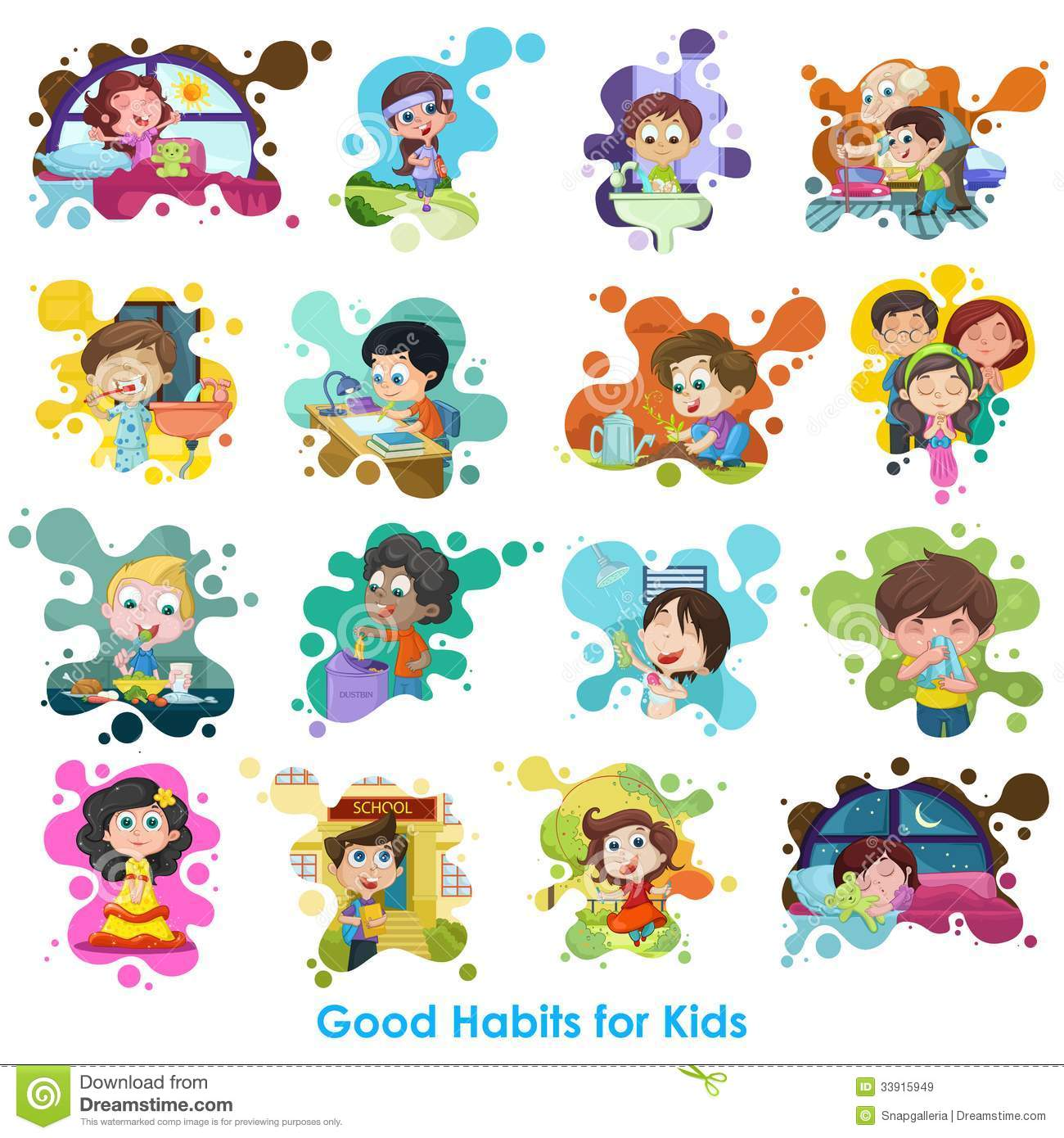 Good Habits Chart Royalty Free Stock Images