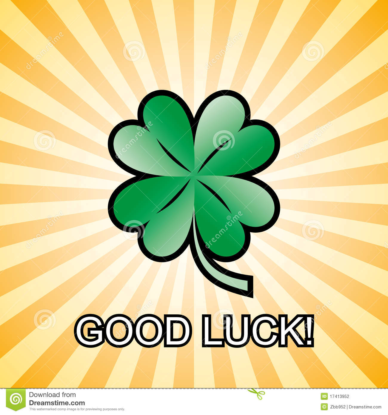 Good Clover Leaf 4 Luck