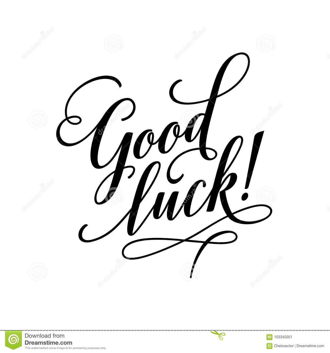Good Luck Lettering Typography Vector Calligraphy