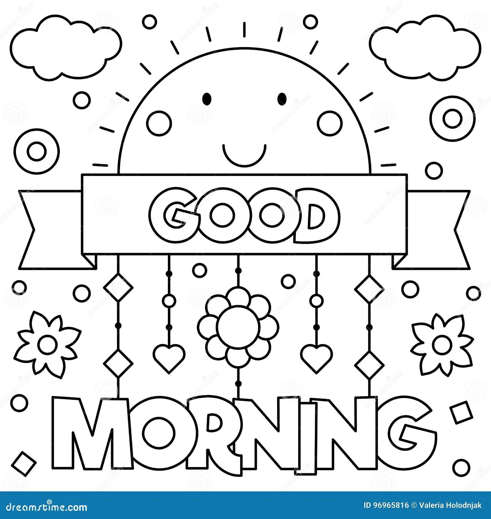 Good Morning Coloring Sheet
