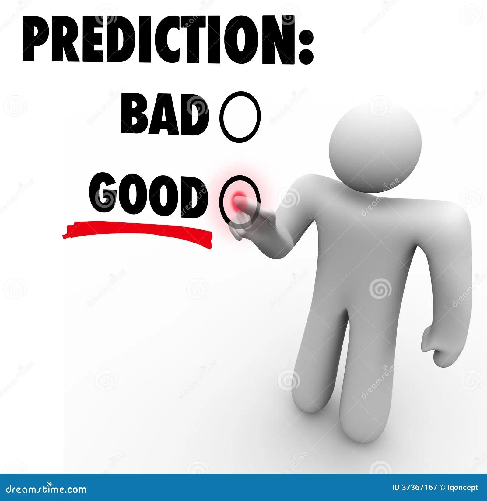 Good Vs Bad Prediction Words Choose Future Expectation