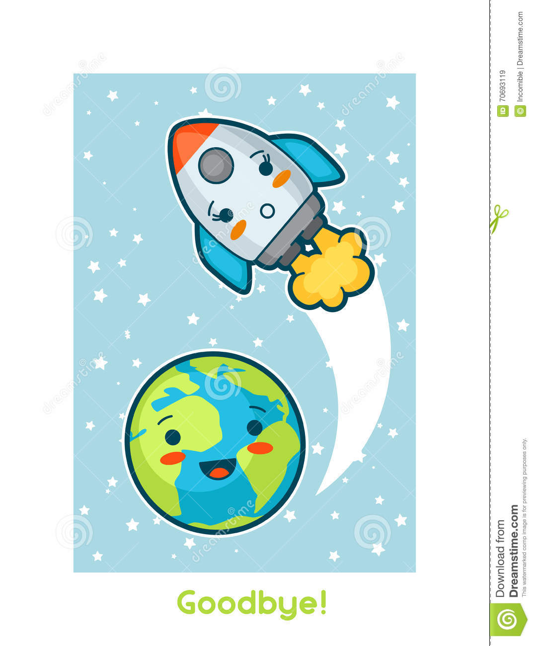 Girl Waving Cartoon Wallpaper Goodbye Kawaii Space Funny Card Doodles With Pretty
