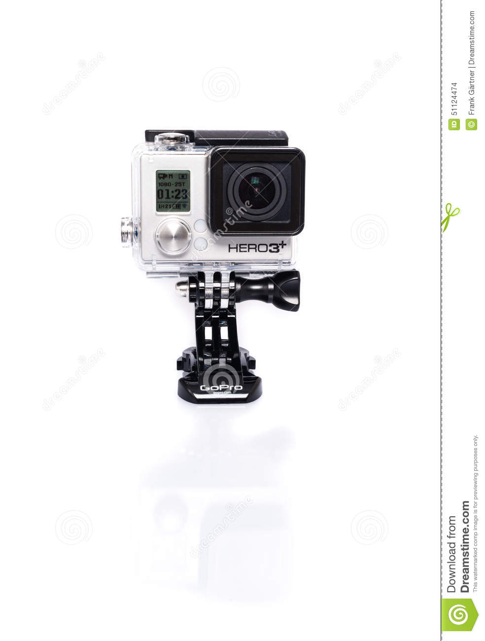 GoPro Hero 3+ Actioncam On White Editorial Stock Image