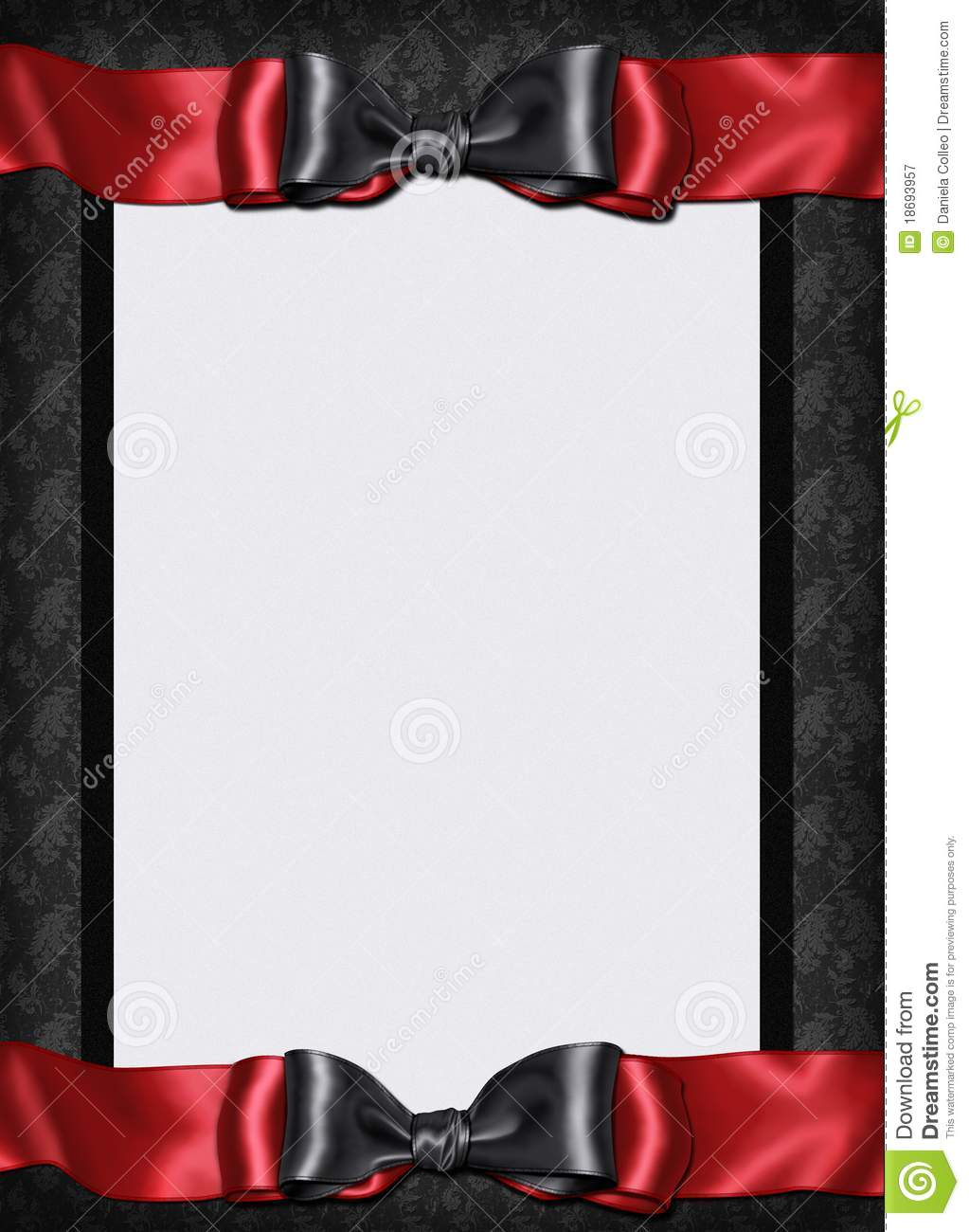 Black And White Gothic Wallpaper Goth Card Menu Invitation Stock Illustration Image Of