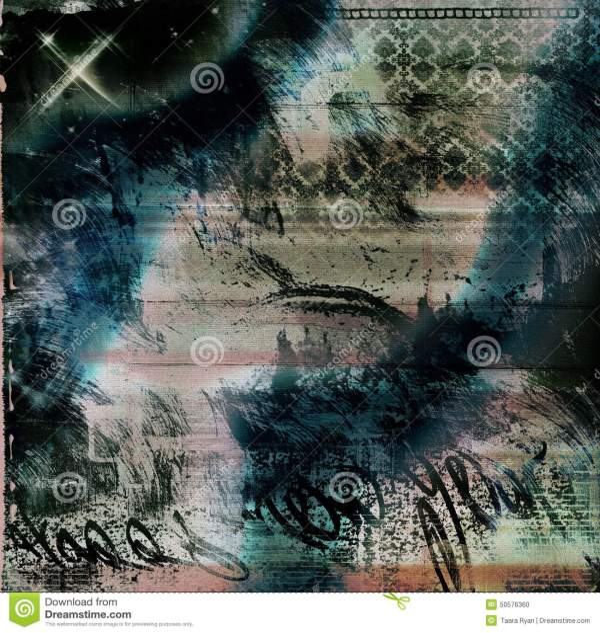 Gothic Grunge Background Worn Brown Lace Graffiti Textured Stock Illustration - 50576360