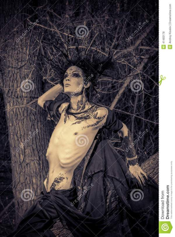 Gothic Man Stock Of Hell Forest Horror