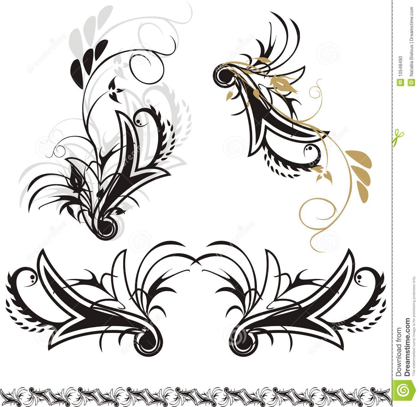 Gothic ornaments stock vector. Illustration of beautiful