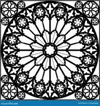 Gothic rose window stock illustration. Image of design ...