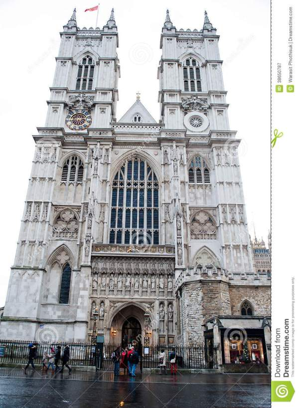Gothic Westminster Abbey Church In London Uk Editorial - 38650787