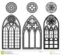 Gothic Windows Of Cathedrals Stock Vector - Illustration ...