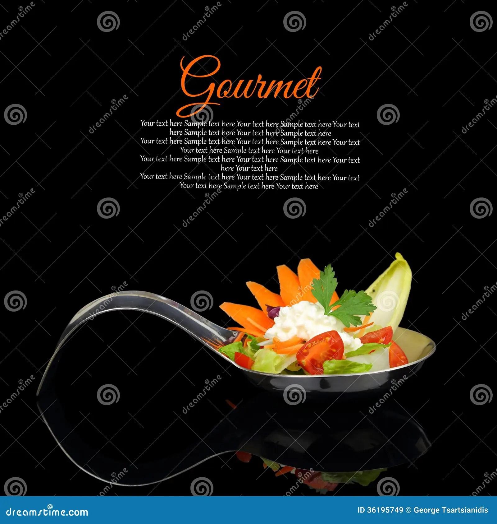 Gourmet food stock image Image of cuisine black